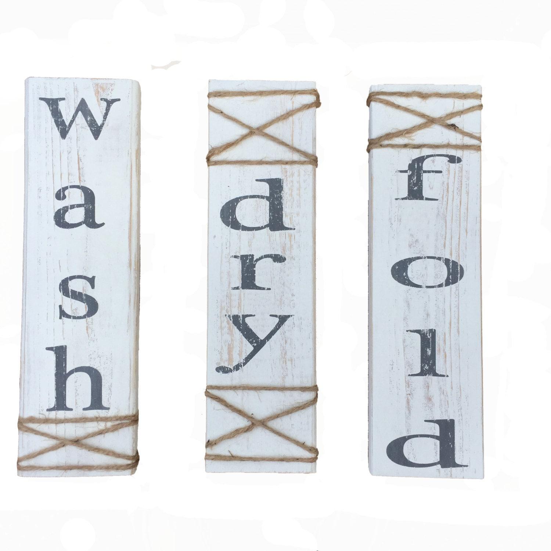 laundry room zeichen bemalte hand waschen trocknen falten. Black Bedroom Furniture Sets. Home Design Ideas
