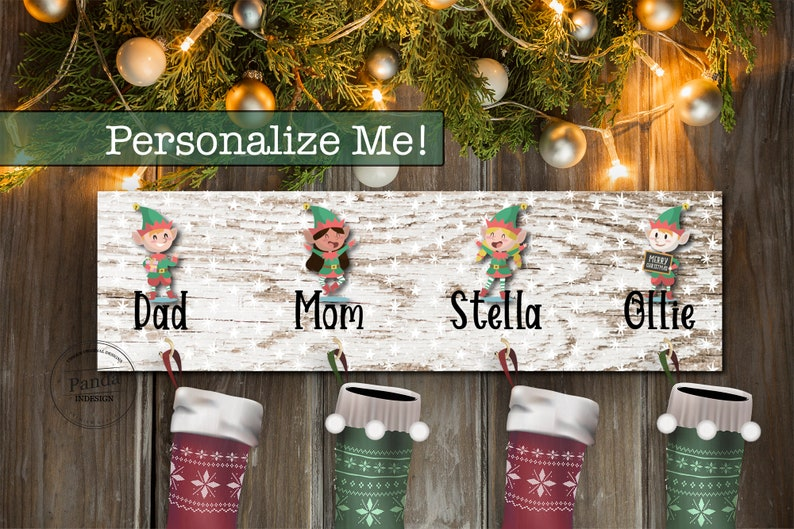 Personalized Family Stocking Holder