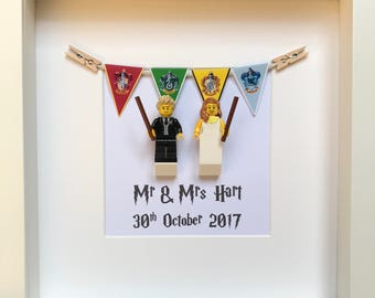 Harry Potter Wedding Gift, Personalised Harry Potter Gift, Harry Potter Theme Wedding Frame