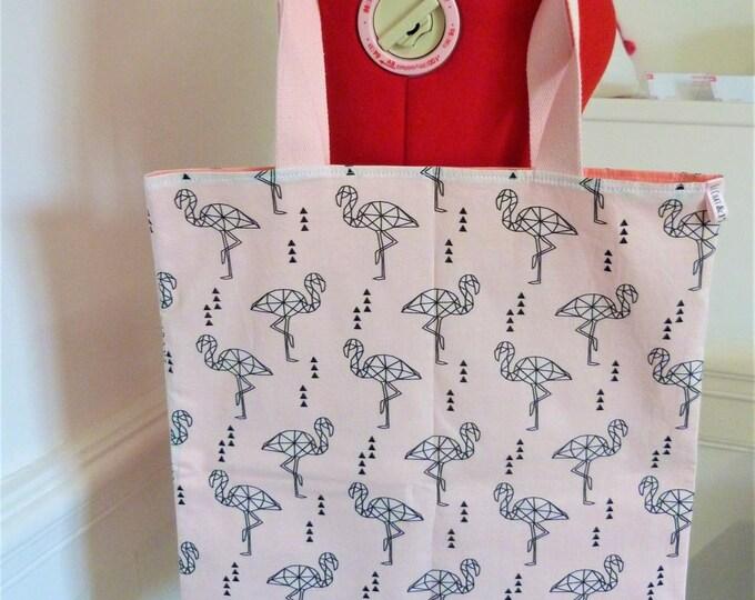 Tote bag, Flamingo (large)