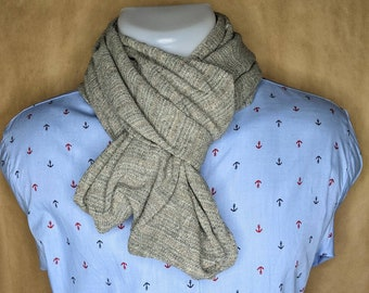 Snood grey, pure linen.