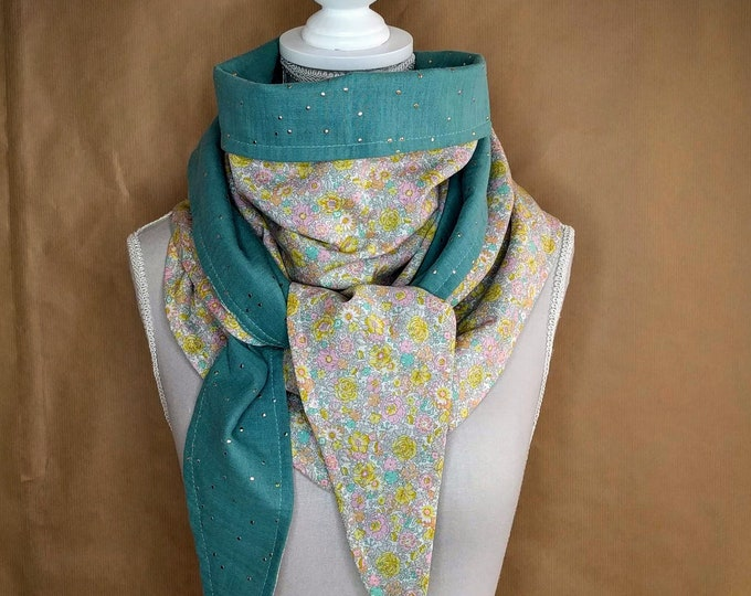 Liberty Amélie cotton triangle scarf