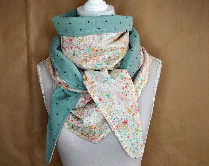 Cotton, Liberty Adelajda yellow triangle scarf