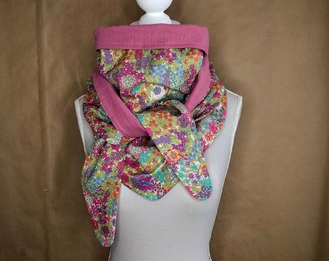 Triangle cotton Liberty Ciara multicolored scarf