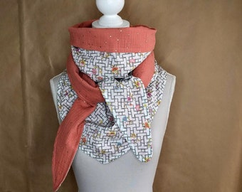 Cotton triangle scarf, Liberty Pagoda