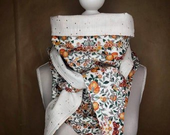 Cotton triangle scarf, liberty orchad autumn-autumn Orchard