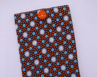 Storage bag/polka dots and stars blue and orange