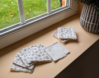 Cloth wipes - leaves - 6 units