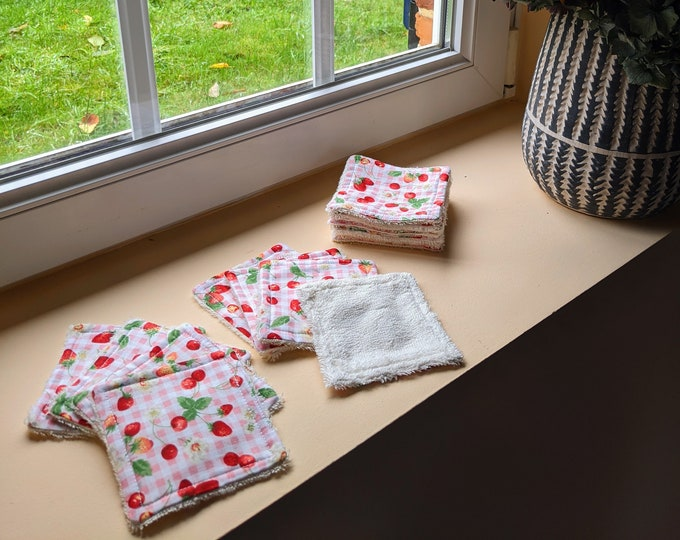 Cloth wipes - pink red fruits - 8 units