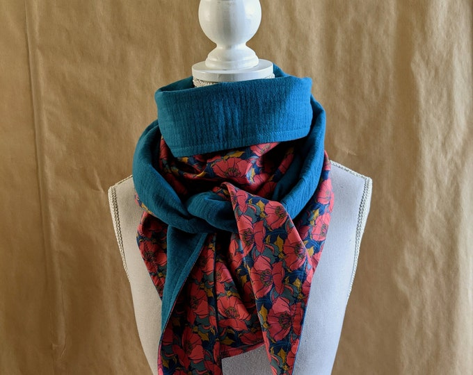 Cotton triangle scarf, Liberty Little Eustacia