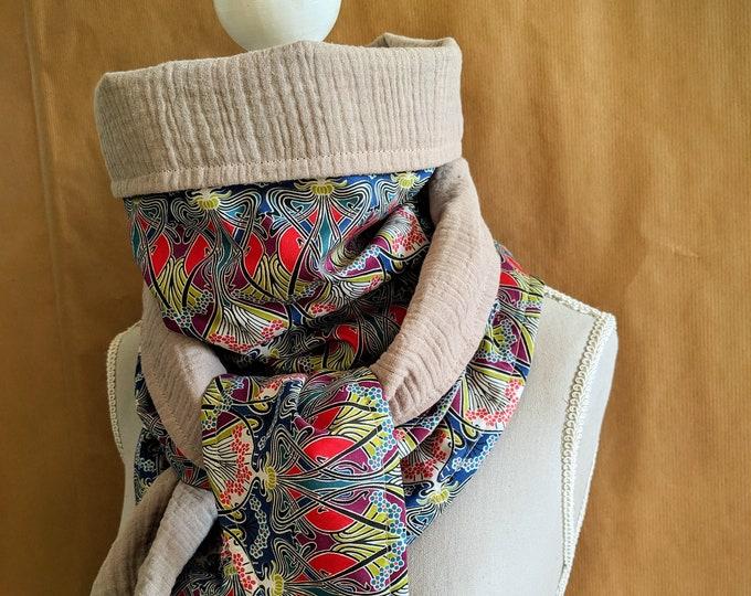 Cotton triangle scarf, Liberty Ianthe A
