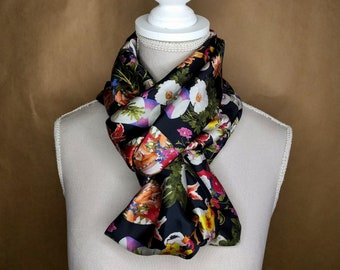 Silk snood, field flowers