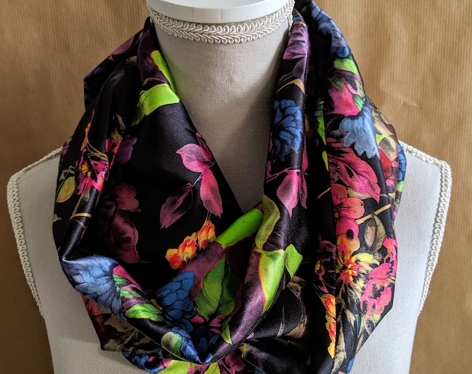 Silk Snood, Ultra Violets