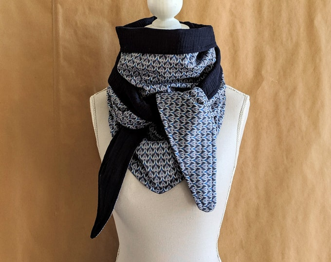 Cotton triangle scarf, Liberty Pantages A