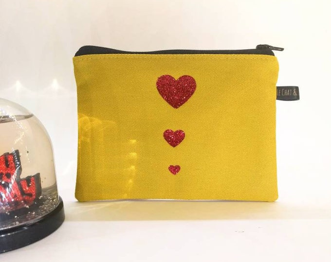 "Saffron yellow Pocket ""LOVE Love love"""