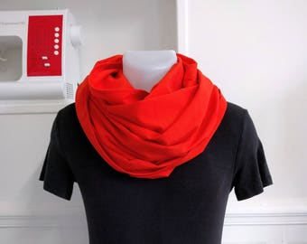 Mixed wool Snood orange.