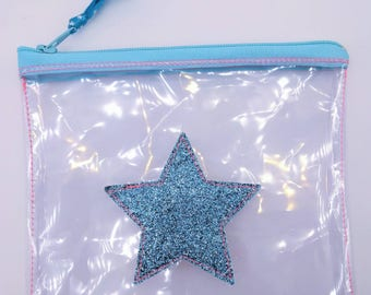 Crystal Blue Star, small pocket.