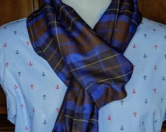 Snood, Blue and Yellow Scottish Tartan