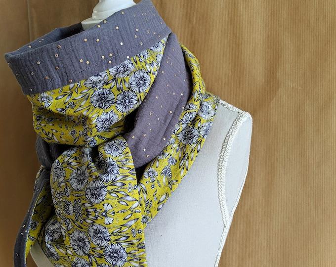 Cotton triangle scarf, Liberty Lady Zadie A