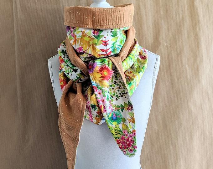 Cotton triangle scarf, Liberty Tresco A