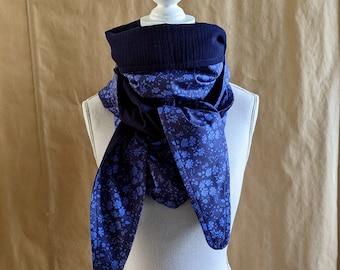 Cotton triangle scarf, Liberty Capel indigo