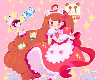 Bee and Puppycat print