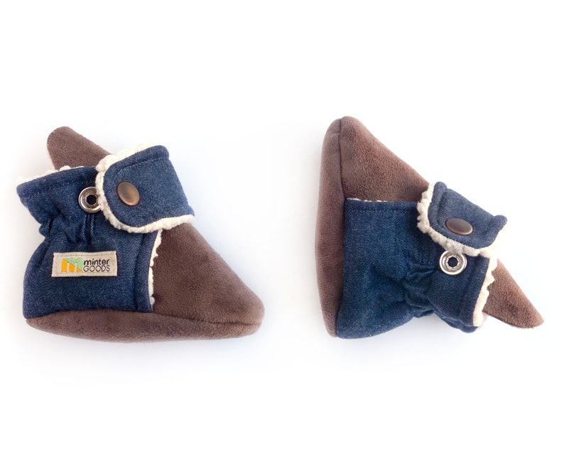Baby boy coming home outfit stylish denim baby moccasins that image 0