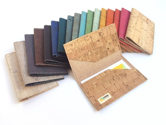 Cork business card case many colors business card holder etsy colourmoves