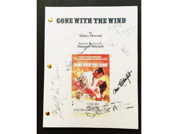 Gone With The Wind Signed Script Rpt Vivien Leigh Clark Etsy