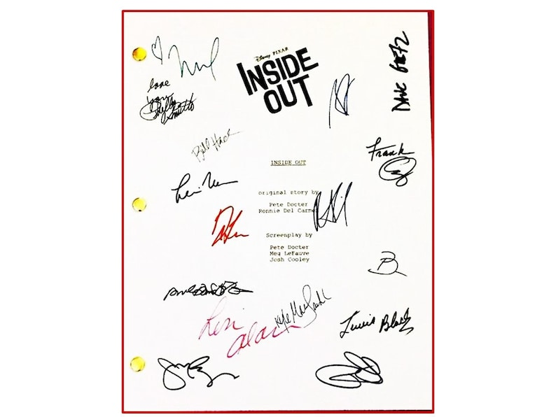 Inside Out Signed Movie Script Amy Poehler Phyllis Smith   Etsy