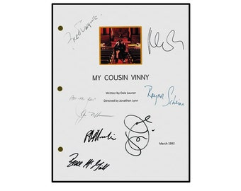 My Cousin Vinny Signed Movie Script Reprint - Joe Pesci ,Ralph Maccio, Marisa Tomei, Fred Gwynne