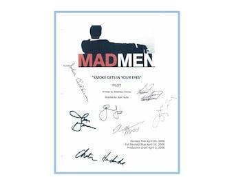 Mad Men Pilot Script Signed Rpt: Jon Hamm, Elisabeth Moss, January Jones, Christina Hendricks, John Slattery, Vincent Kartheiser