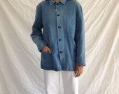 1950 39 s vintage german cotton chore coat, size S-M