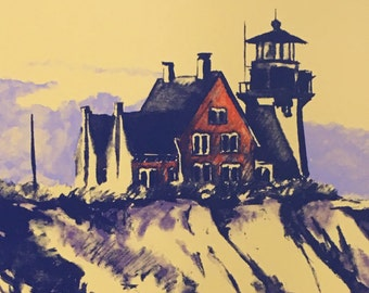 """Limited Edition Serigraph Print """"On the Edge"""""""