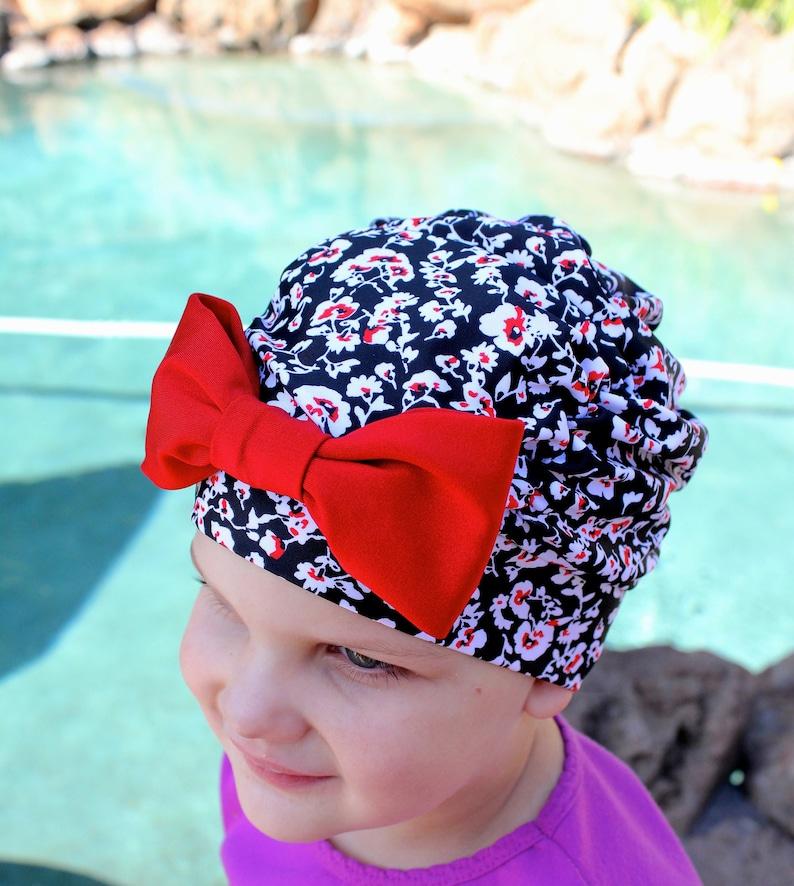 e2313f52b68 Floral Ruched Swim Cap Swim cap Baby swim cap toddler swim   Etsy