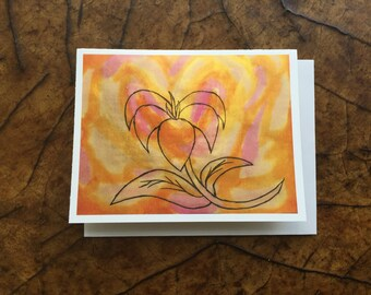Sympathy Card, Any Occasion Card, Birthday Card, Flower Card, I Love You card, Mother's Day Card,  Autism Awareness Product