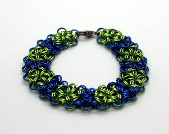 Seahawks Inspired Chainmail Bracelet