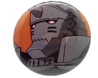 2.25-Inch Alphonse (Full Metal Alchemist) Pin-Back Button