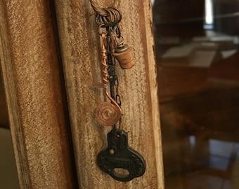 Found Object Key Necklace