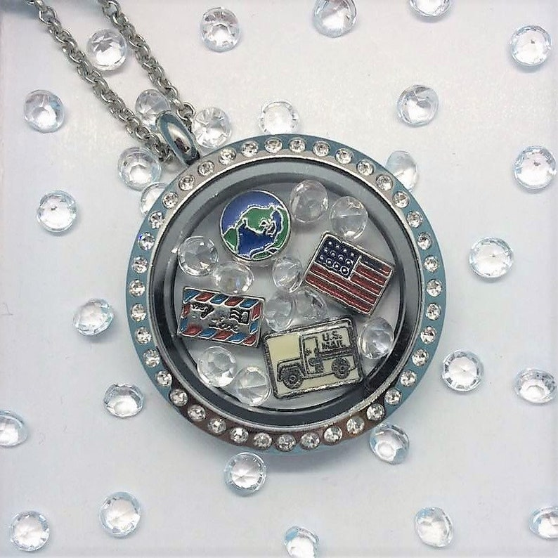 Mail Carrier Locket-Creatively Crafted Floating Lockets-The Copper Closet
