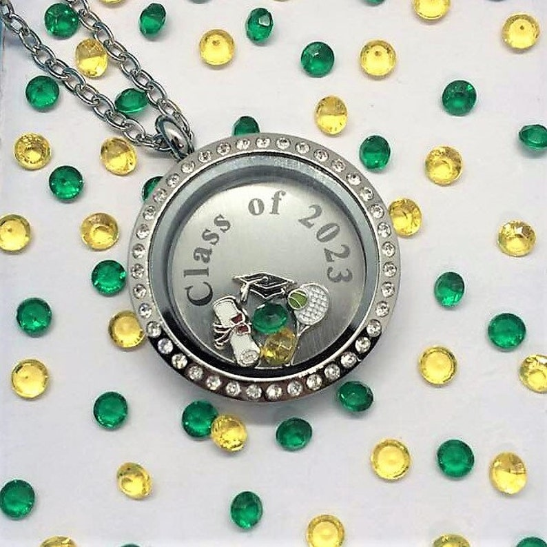 Senior Class School Sports Locket-Creatively Crafted Floating Lockets-The Copper Closet