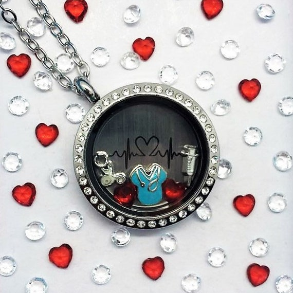 Pediatric Nurse Locket-Creatively Crafted Floating Lockets-The Copper Closet