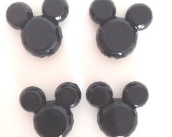 Pearl acrylic black mickey head
