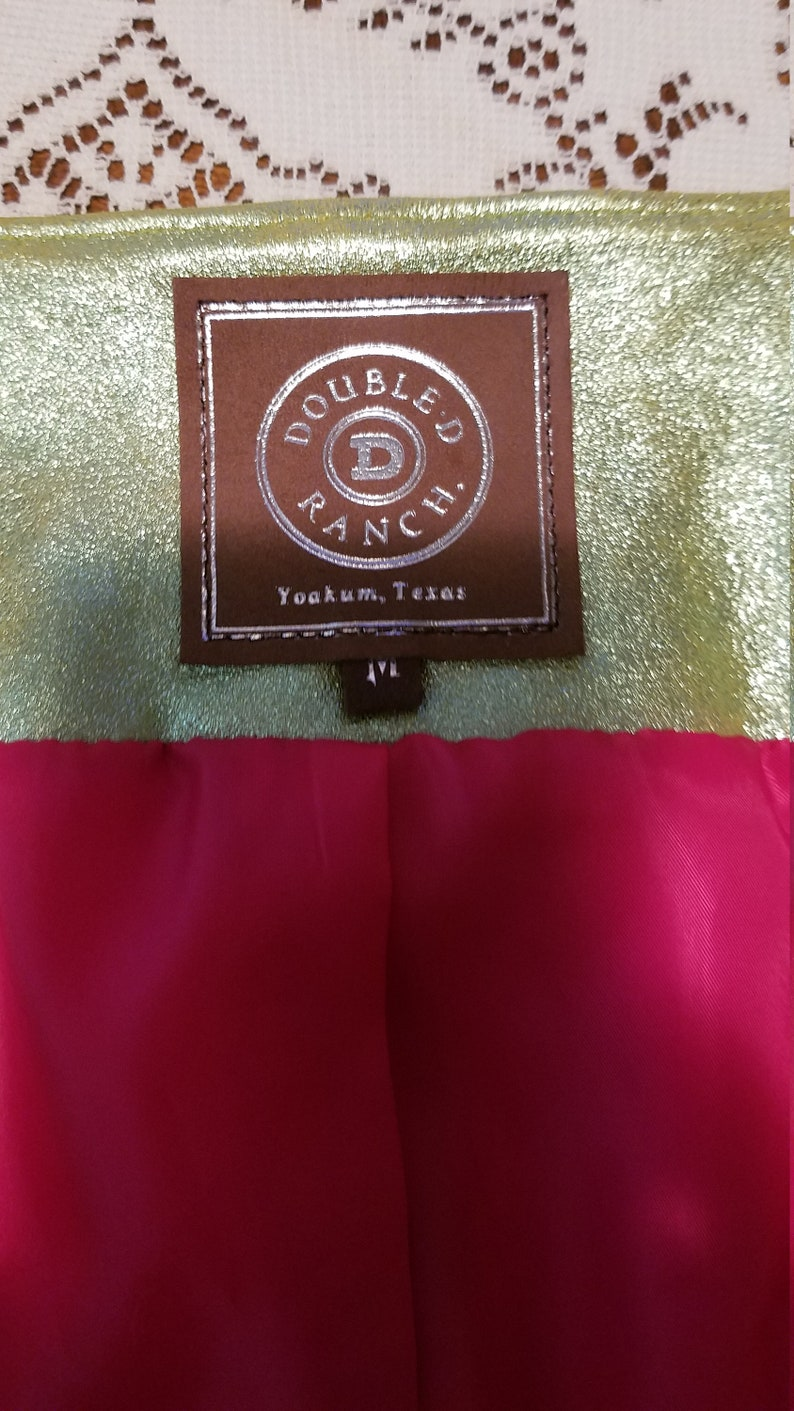 Leather Double D Ranch jacket