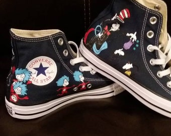 705eb25e5fee0e Custom Hand painted Dr Seuss Shoes Converse High tops men women kid or baby  custom shoes original sealed