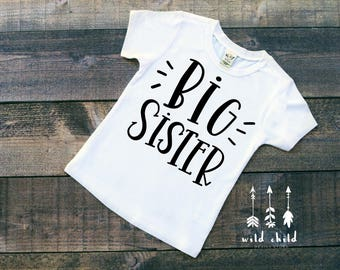 Big Sister Shirt, Sibling Shirt, Sister Shirt, Big Sister, Little Sister, Sibling Shirts, Matching Shirts, Big Sister Tee, Toddler Sister