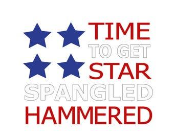 Star Spangled Hammered, patriotic cricut svg, patriotic svg file, 4th of july svg, fourth of july svg, 4th of july file, fourth of july file