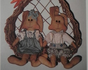 Rosy and Ridgley Cloth Rabbit Doll Pattern with Clothing 15 inches