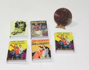 échelle 1.12 Dolls House 36 livres miniature littérature