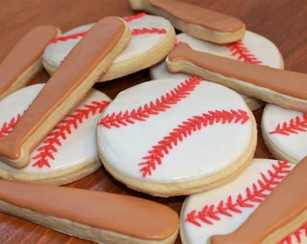 Baseball Cookies, Baseball Party, MLB, Team Party, Little League, World Series, Baseball, Softball, Boys Birthday party, Baseball Bat, Kids